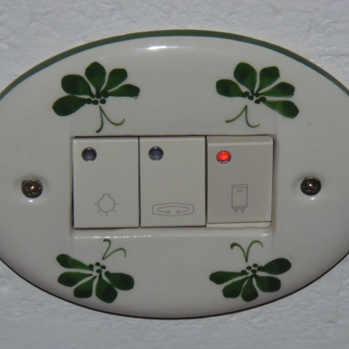 detail light, auxiliary heating  and water boiler switch