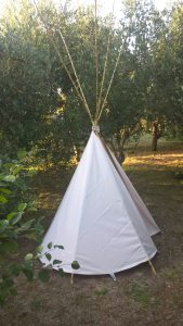 tipi in the yard of Holiday house Stara Frajla Kukljica